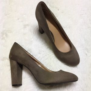 Merona Shoes - Merona Faux Suede Chunky Block Heels